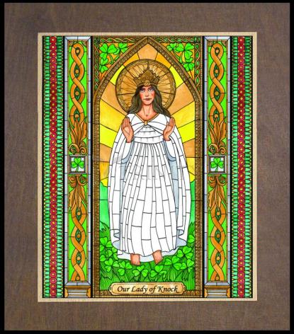 Wood Plaque Premium - Our Lady of Knock by B. Nippert