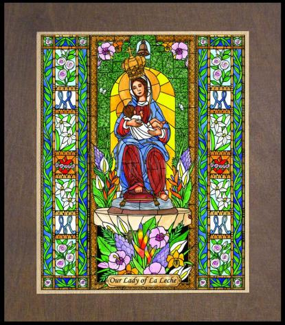Wood Plaque Premium - Our Lady of the Milk by B. Nippert