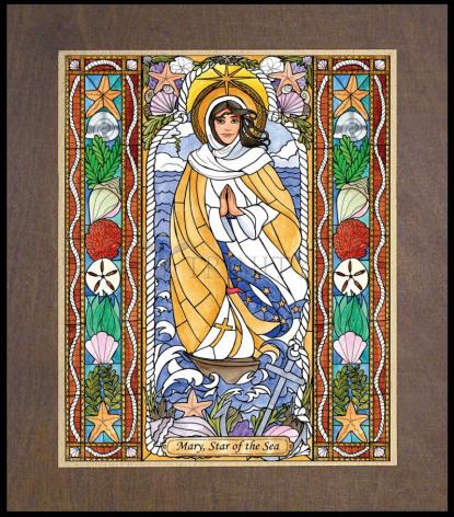 Wood Plaque Premium - Our Lady Star of the Sea by B. Nippert