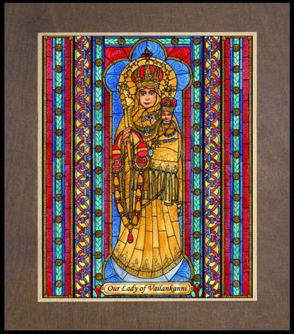 Wood Plaque Premium - Our Lady of Vailankanni by B. Nippert