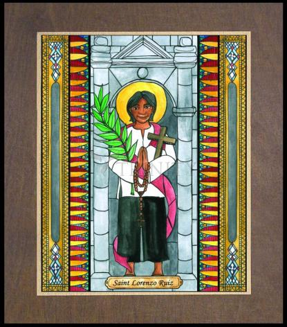 Wood Plaque Premium - St. Lorenzo Ruiz by B. Nippert