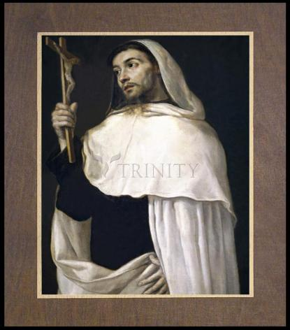 Wood Plaque Premium - St. Albert of Sicily by Museum Art