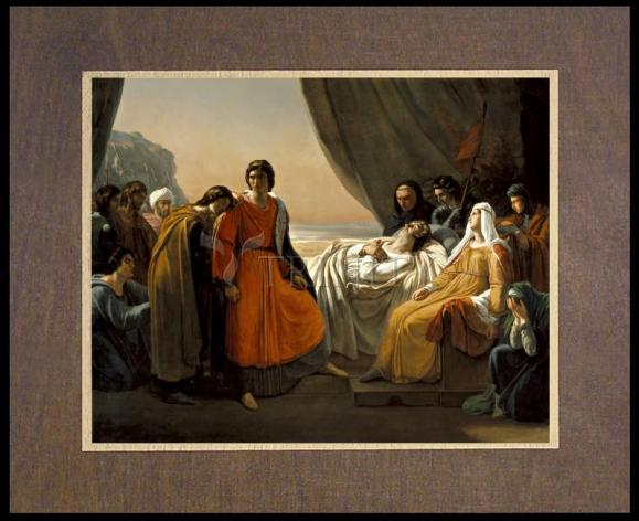 Wood Plaque Premium - Death of St. Louis, King of France by Museum Art
