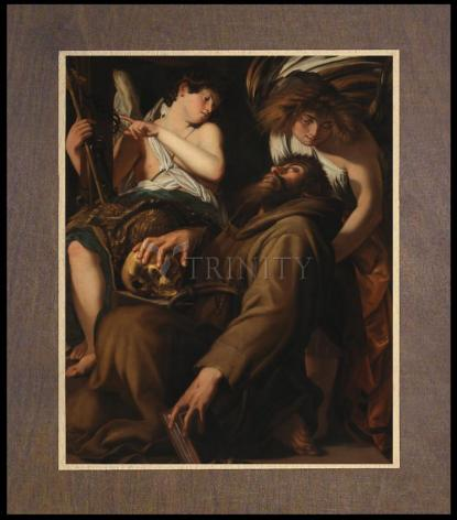 Wood Plaque Premium - Ecstasy of St. Francis of Assisi by Museum Art