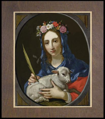 Wood Plaque Premium - St. Agnes by Museum Art