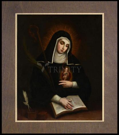 Wood Plaque Premium - St. Gertrude by Museum Art