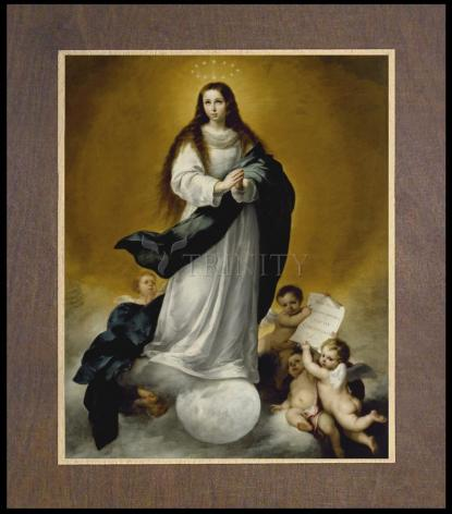 Wood Plaque Premium - Immaculate Conception by Museum Art