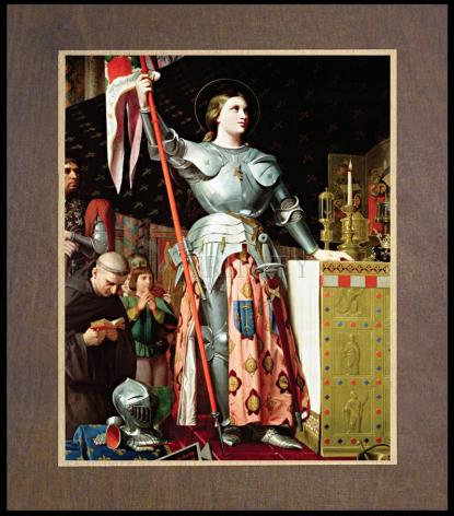 Wood Plaque Premium - St. Joan of Arc at Coronation of Charles VII by Museum Art