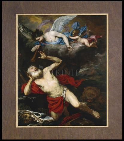Wood Plaque Premium - St. Jerome in the Wilderness by Museum Art