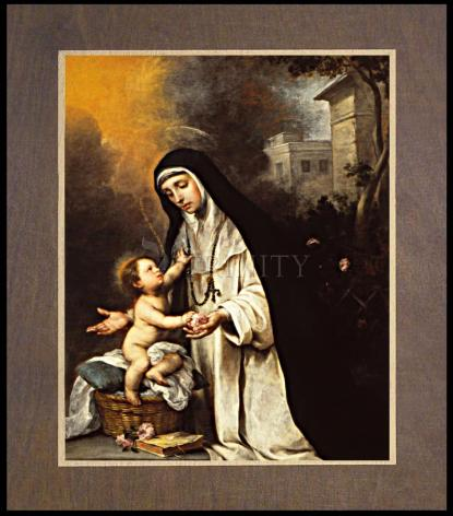 Wood Plaque Premium - St. Rose of Lima by Museum Art