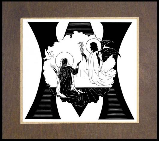Wood Plaque Premium - Annunciation by D. Paulos