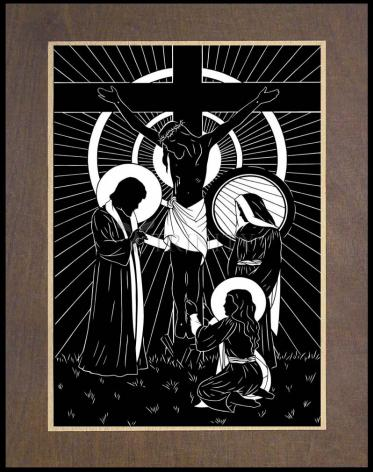 Wood Plaque Premium - Behold Thy Mother by D. Paulos