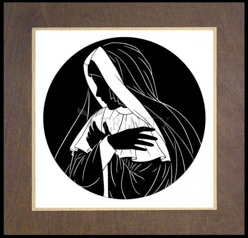 Wood Plaque Premium - Mater Dolorosa by D. Paulos