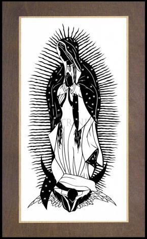 Wood Plaque Premium - Our Lady of Guadalupe by D. Paulos