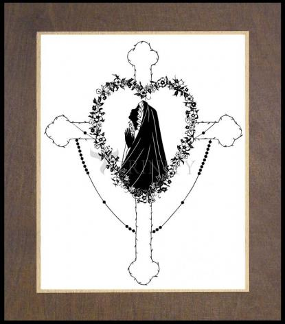 Wood Plaque Premium - Our Lady of the Rosary by D. Paulos