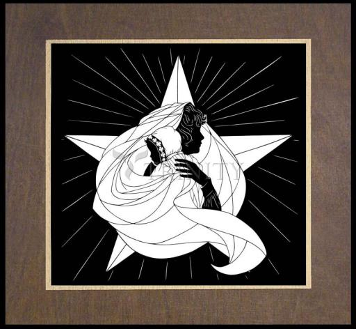 Wood Plaque Premium - Morning Star by D. Paulos