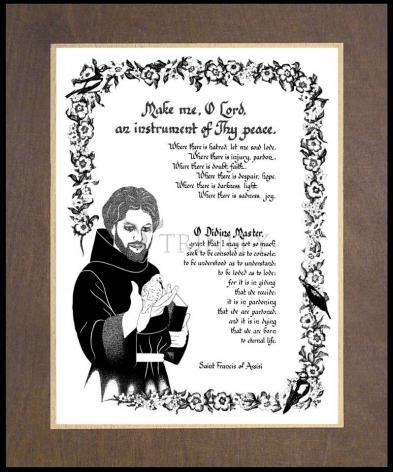 Wood Plaque Premium - Prayer of St. Francis by D. Paulos