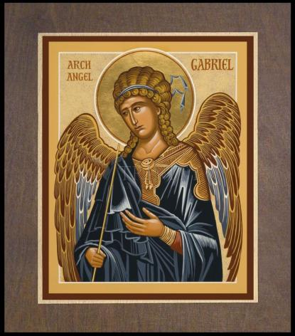 Wood Plaque Premium - St. Gabriel Archangel by J. Cole