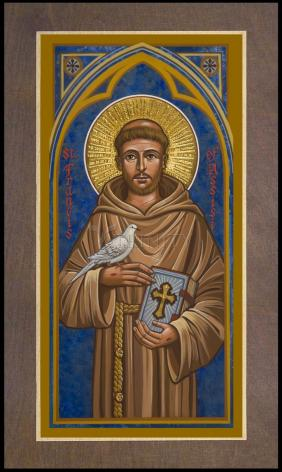 Wood Plaque Premium - St. Francis of Assisi by J. Cole