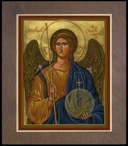 Wood Plaque Premium - St. Michael Archangel by J. Cole