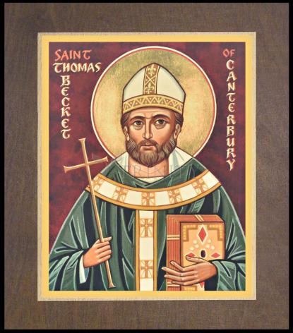 Wood Plaque Premium - St. Thomas Becket by J. Cole