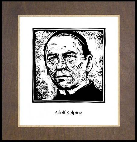 Wood Plaque Premium - St. Adolf Kolping by J. Lonneman