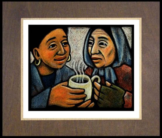 Wood Plaque Premium - Blessed Are the Poor by J. Lonneman