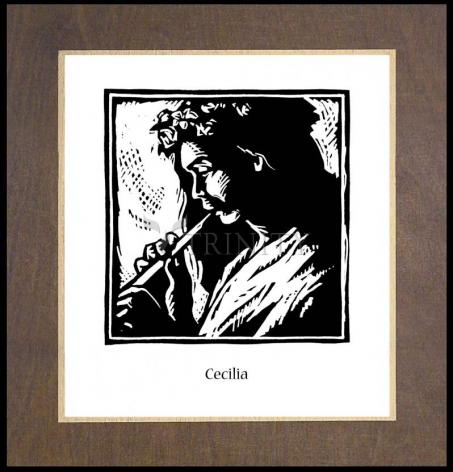 Wood Plaque Premium - St. Cecilia by J. Lonneman