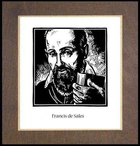 Wood Plaque Premium - St. Francis de Sales by J. Lonneman