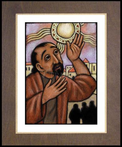 Wood Plaque Premium - Lent, 4th Sunday - Healing of the Blind Man by J. Lonneman
