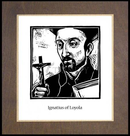 Wood Plaque Premium - St. Ignatius by J. Lonneman