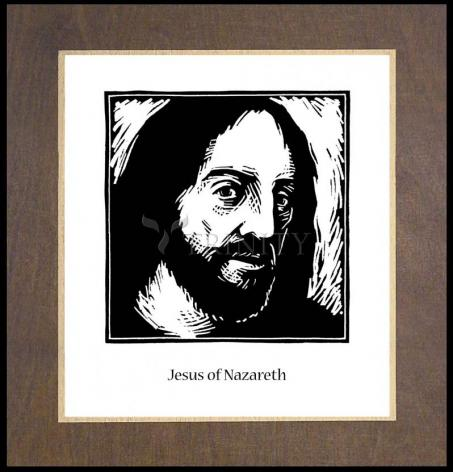 Wood Plaque Premium - Jesus by J. Lonneman