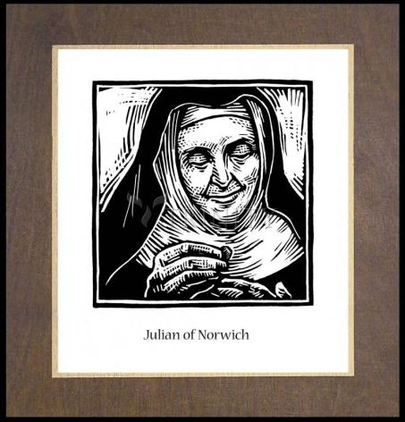 Wood Plaque Premium - Julian of Norwich by J. Lonneman