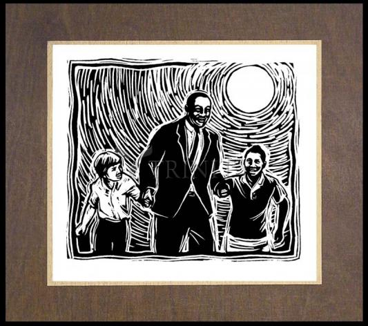 Wood Plaque Premium - Martin Luther King's Dream by J. Lonneman