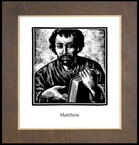 Wood Plaque Premium - St. Matthew by J. Lonneman