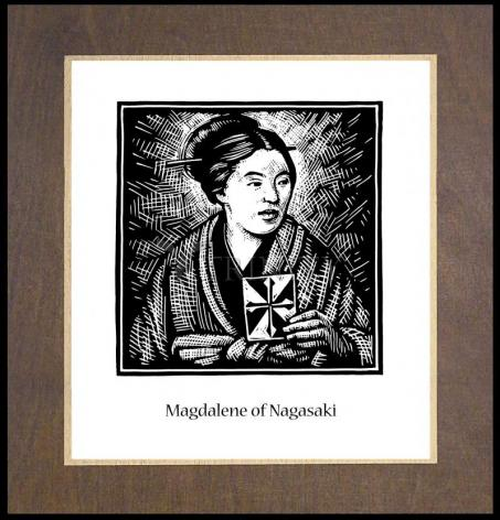 Wood Plaque Premium - St. Magdalene of Nagasaki by J. Lonneman