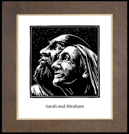 Wood Plaque Premium - Sarah and Abraham by J. Lonneman