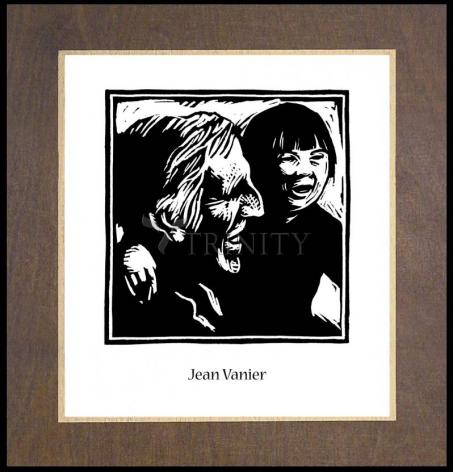 Wood Plaque Premium - Jean Vanier by J. Lonneman