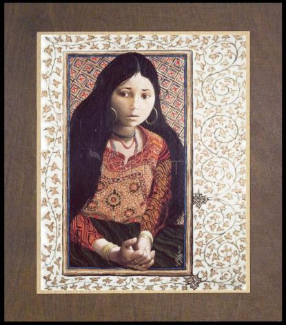 Wood Plaque Premium - The Daughter of Jairus by L. Glanzman