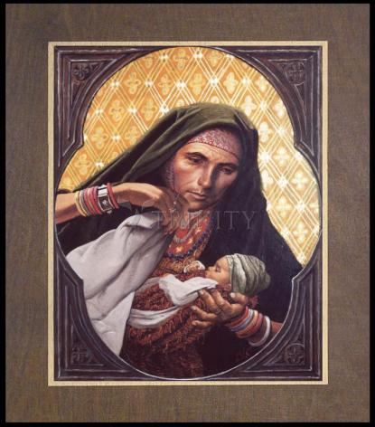 Wood Plaque Premium - St. Elizabeth, Mother of John the Baptizer by L. Glanzman