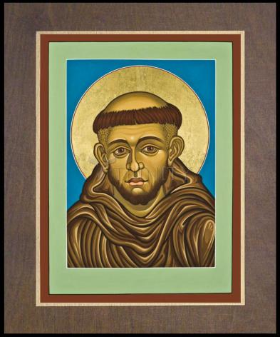 Wood Plaque Premium - St. Francis of Assisi by L. Williams