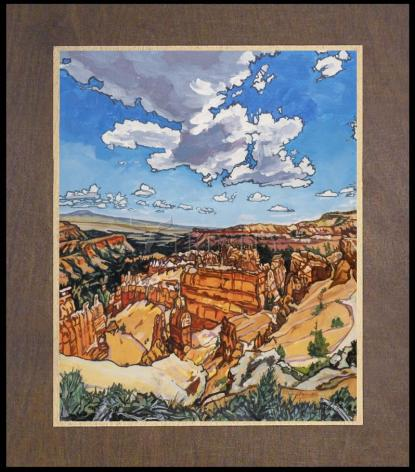 Wood Plaque Premium - Bryce Brewing Monsoons by L. Williams