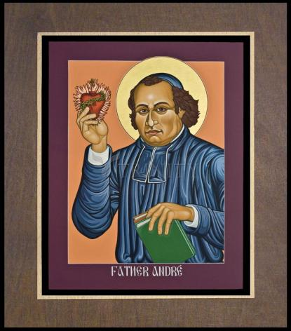 Wood Plaque Premium - Fr. Andre' Coindre by L. Williams