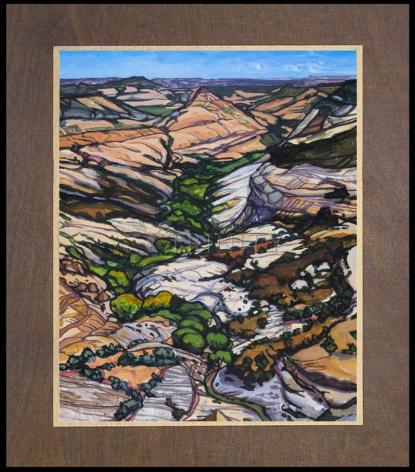Wood Plaque Premium - Green Hopes In Dry Times by L. Williams