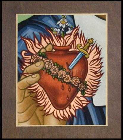 Wood Plaque Premium - Immaculate Heart of Mary by L. Williams