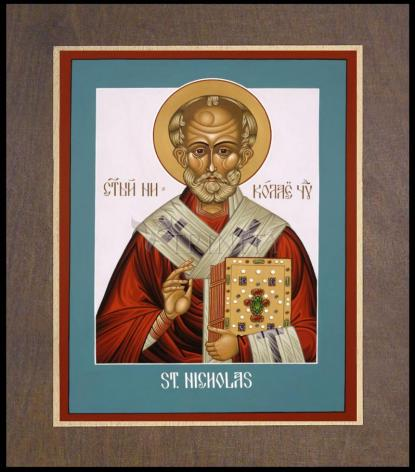 Wood Plaque Premium - St. Nicholas by L. Williams