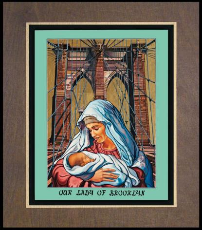 Wood Plaque Premium - Our Lady of Brooklyn L. Williams