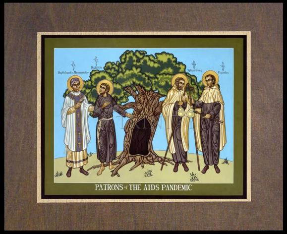 Wood Plaque Premium - Patrons of the AIDS Pandemic by L. Williams