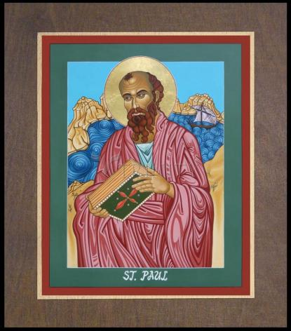 Wood Plaque Premium - St. Paul of the Shipwreck by L. Williams