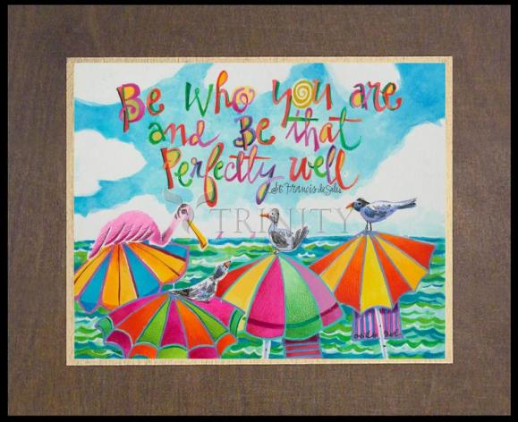 Wood Plaque Premium - Be Who You Are by M. McGrath